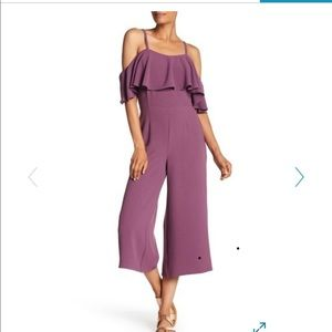 Ruffle Cold Shoulder Jumpsuit